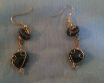 Wrapped Heart Earrings