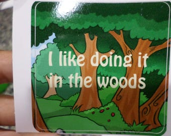 "2.5"" x 2.5"" Square Woods Sticker"