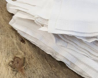Reclaimed Textile White Polishing Hand Rags (50 per pack)