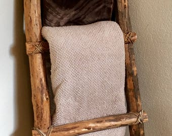 4 rung blanket / towel decorative rustic ladder