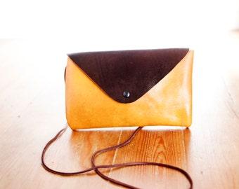 Handmade Leather Bag Kuning