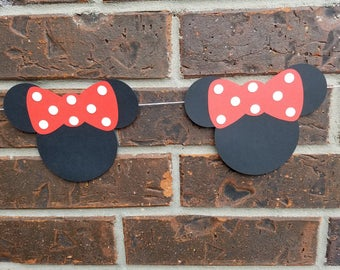 Minnie Mouse, Minnie Mouse Banner, Red Minnie Mouse Birthday Banner, Red Minnie Mouse, Disney, Disney Minnie Mouse Birthday