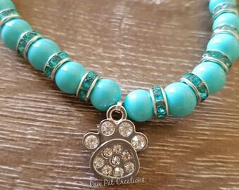 Candy Blue Pet Necklace