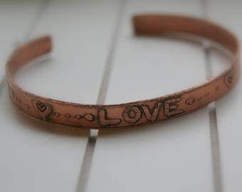 pure copper stacking bangle bracelet
