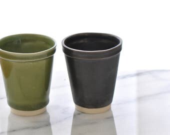 Ceramic Styrofoam Cups - Slipcast - Various Finishes