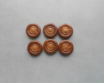 Set of 6 Vintage Vegetable Ivory Buttons