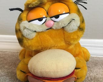 Vintage Garfield with a Burger