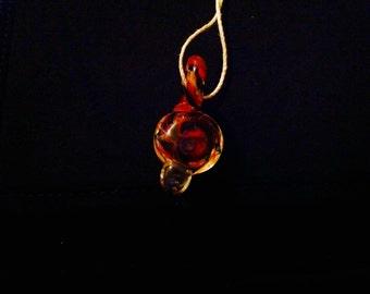 Glass Spiral Pendant