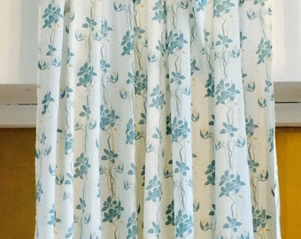 Curtain YLANG - model Orchid - 245 x 108 cm - color blue Peacock