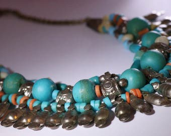 Antique South American Beaded Necklace