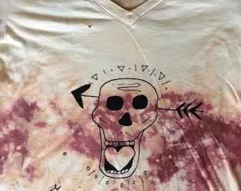 Love direction skull t-shirt // Acid washed