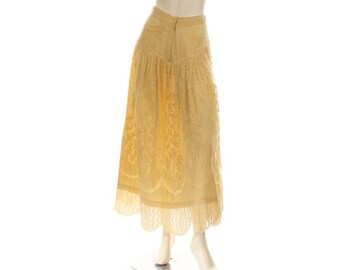Bonnie Strauss Butter Lace Skirt Size 6