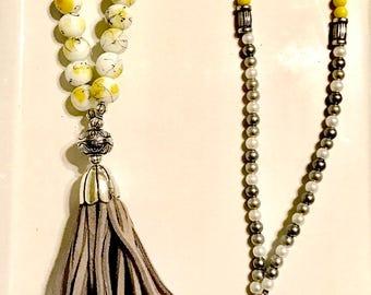 Banana Tree Tassel Necklace