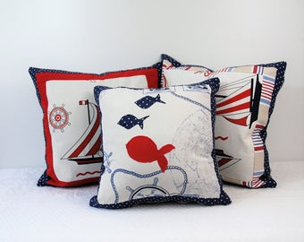 Trio covers for pillows Beach collection, for home, for the boat, for the bedroom, terrace, veranda