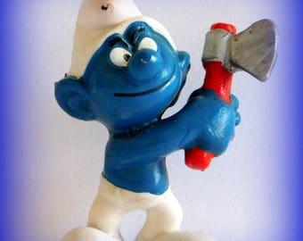 Figurine schtroumpf etsy - Schtroumpf grincheux ...