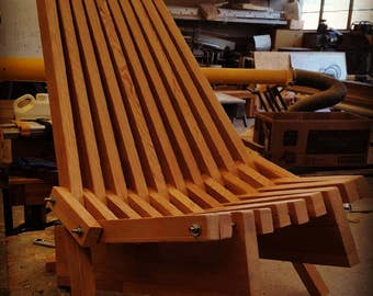 Folding Wood Slat Chair