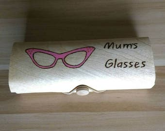 Mum's  handcrafted bamboo glasses case