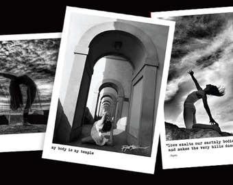 Robert Sturman yoga photography set of 3 cards blank greeting cards