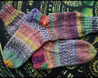 "Handknitted Socks size 36/37 ""HappyScrappyStile"""