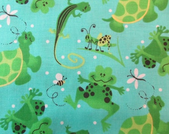Happy Frogs Fabric