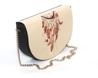 Half-Moon Leather Bag