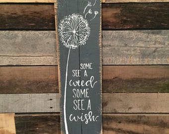 Some see a wish pallet wood sign