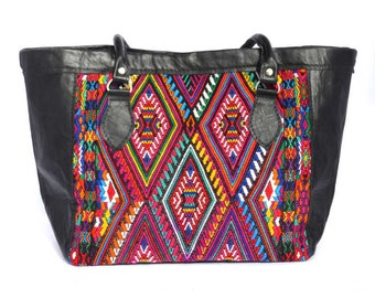 handbag black and multicolors