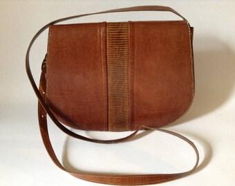 Vintage Boho Leather Cross Body Bag