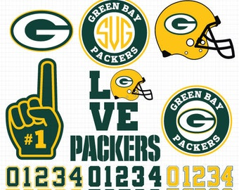 Green Bay Packers- Cuttable Design Files(Svg, Eps,Dxf, Jpg) For Silhouette Studio, Cricut Design Space, Cutting Machines,Instant Download
