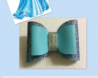 Cinderella Inspired Glitter Hair Bow