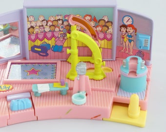 1999 Polly Pocket - Uneven Parallel Bar - Gymnastic Magic - only two items missing