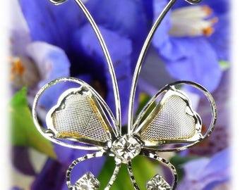 6 PK Clear Crystal & Clear Diamond  Boquet Picks