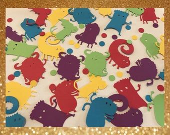 Large Monster Birthday Party Confetti - Customizable!