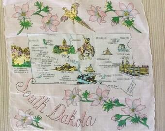 "South Dakota 12"" x 12"" Handkerchief Hankie"