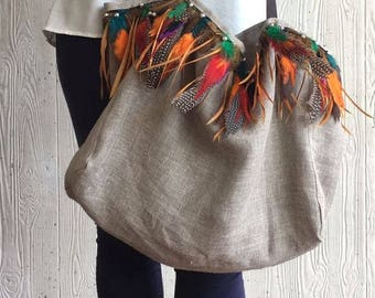 Feather bag sale