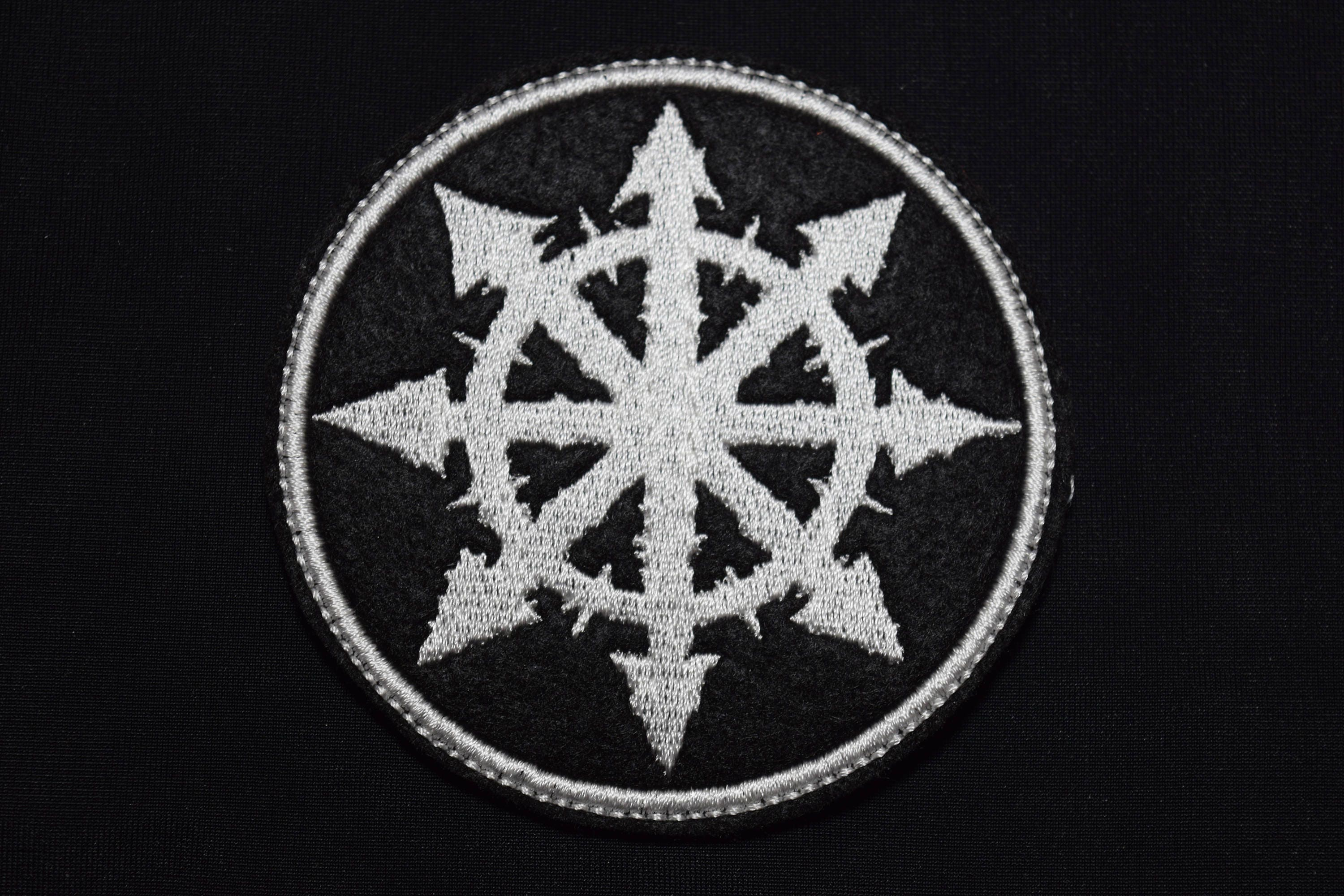 Chaos Cross Patch Chaosphere Logo Eight Pointed Star Mark Of Chaos