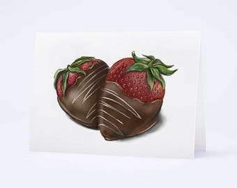 Chocolate Covered Strawberries by Truly Yours Greetings