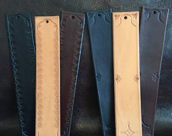 handmade leather bookmark