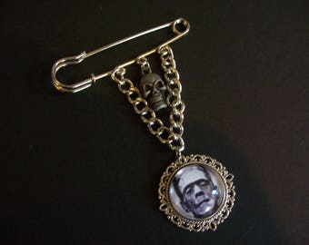 "Universal Monsters ""Frankenstein's Monster"" Kilt Pin Brooch"