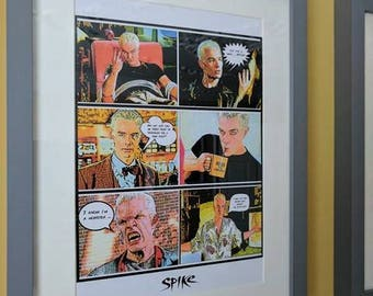 Spike Comic Print - Buffy The Vampire Slayer (240mm x 50mm - A4)
