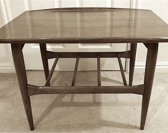 Mid-century Danish Side Table Crafted by Bassett Furniture