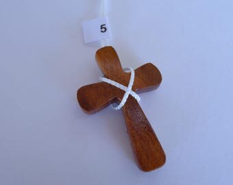 Exotic Wood Cross Necklace