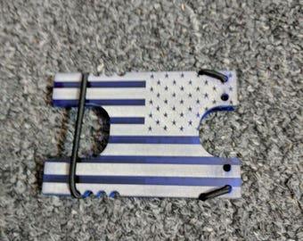 Acrylic Shock Wallet, EDC American Flag