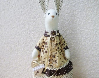 Rabbit-handmade rabbit- Handmade Bunny-rabbit fabric-rabbit Tilda-Сute Rabbit- bunny-Tilda bunny-Rabbit doll- bunny  stuffed toy-girl gift