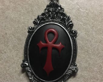 Ankh of the goddess cameo necklace