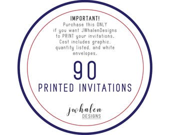 90 Professionally Printed Invitations