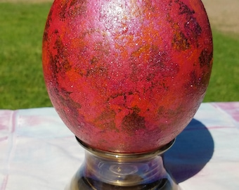Red/Orange/Copper Dragon's Egg With Stand