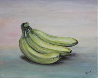 "Acrylic painting ""Bananas"", Ready to hang, Wall art canvas art, wall decor"