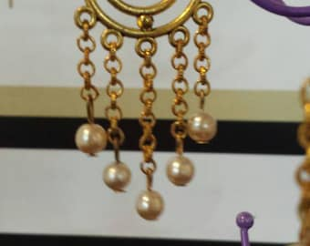 Earrings gold and pearls