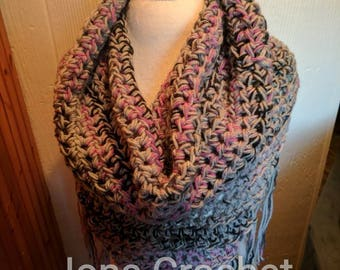 Crochet Cowl Neck, Athena Neck Wrap, Shawl